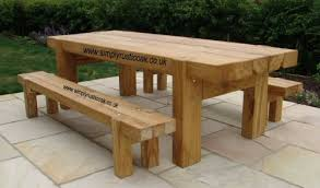 rustic oak beam garden table wood stuff to make pinterest