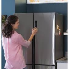 Haier French Door Refrigerator Price - haier 28 in w 15 0 cu ft french door refrigerator in glass