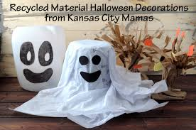 fast easy halloween decorations recycled materials