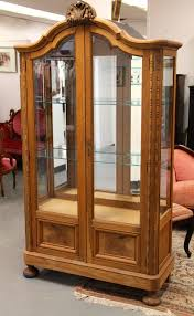 Curio Cabinet With Glass Doors Found In Ithaca Banyan Wood Curio Cabinet With Beveled Glass