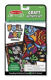 amazon com melissa u0026 doug on the go foil art craft activity set