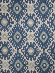 Upholstery Fabric For Curtains Indigo Blue And Grey Linen Ikat Upholstery Fabric By The Yard