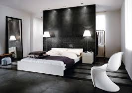 valet de chambre moderne chambre moderne design blanc gris noir carrelage fauteuil lit