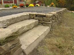 Average Cost Of Flagstone by How To Build A Dry Stack Stone Retaining Wall How Tos Diy