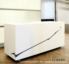 Reception Counter Desk Made In China Dupont Corian Reception Counter Desk China Office