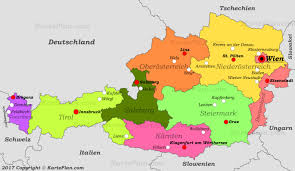 Map Austria Political Map Of Austria With Cities