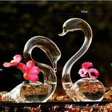 home decor online cheap hand blown glass swan sculpture home decor set of 2 beautiful art