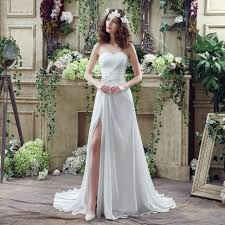 informal wedding dress simple wedding dresses for casual wedding slit side