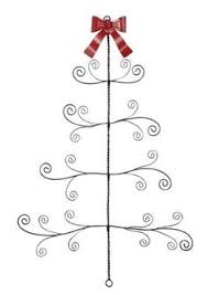 standing metal tree card holder from creative coop