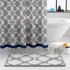 Navy And Coral Shower Curtain Would Be With Blue Tiles Except That It S 98 Jonathan