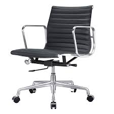 mid back office chair italian leather