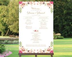 creating a wedding program wedding program sign etsy