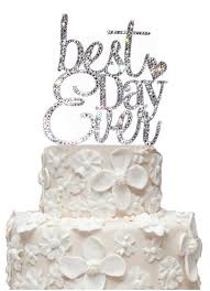 where to buy wedding cake toppers rhinestone best day cake topper david s bridal