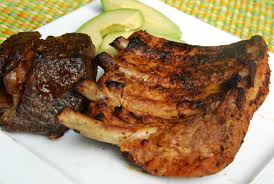 grilled pork ribs costillas de cerdo a la parilla