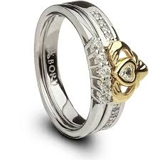 claddagh set and 10k gold claddagh ring set
