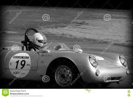 vintage porsche racing old porsche spyder at le mans editorial stock image image 74681799