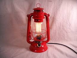 lighting ideas electric lantern table lamp with red lamp ideas