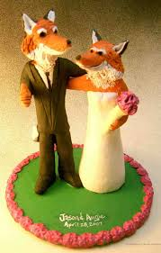 foxes wedding cake topper custom wedding cake toppers