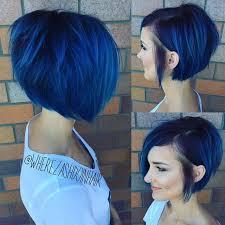 Bob Frisuren Undercut by Midnight Blue Is Een Haarkleur Die Met Donker Haar