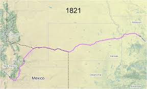 map of mexico 1821 travel the trail map timeline 1821 1845 santa fe national