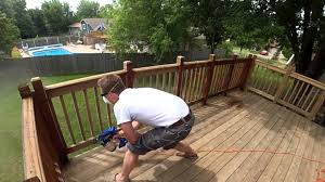 staining a deck roll vs brush vs spray youtube