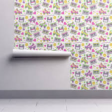 90s nostalgia wallpaper by hazel fisher creations roostery home