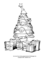 christmas tree free coloring pages for kids printable colouring