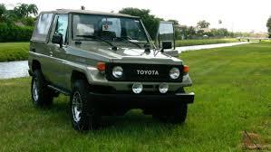 toyota land rover 1980 landcruiser fj73 1987 campero carpado gasoline green 4x4 5 speeds