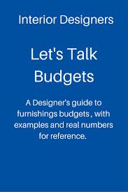 let s talk budgets designed