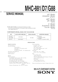 sony mhc 881 service manual immediate download