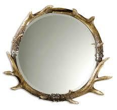 Uttermost Mirror Uttermost Stag Horn Round Mirror 11556 B