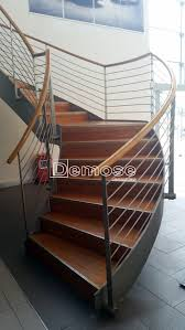 narrow straight stairs high end staircase manufacture by demose