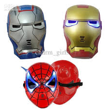 Iron Man Halloween Costume 2013 Glow Dark Led Iron Man Spider Man Mask Halloween