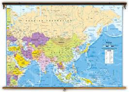 Physical Map Of Asia by Asia Political Classroom Map From Academia Maps