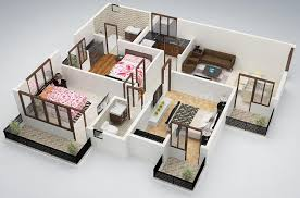 layouts of houses creative three bedroom layout home and design