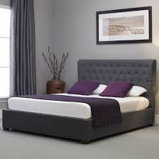 Grey Upholstered Ottoman Bed Grey Ottoman Bed