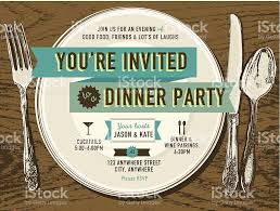 elegant dinner party invitation design template placesetting on