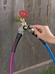 cool hoses push button 2 tap adaptor for your garden hose so cool