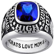 high school class ring value personalized s classic platinum plated celebrium large class