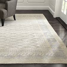 Neutral Area Rugs Rosalie Silver Knotted Rug Crate And Barrel