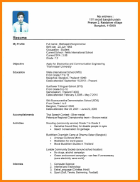 resume format for college 10 student cv format pdf new tech timeline