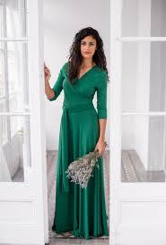 emerald green dress long green wrap dress convertible dress