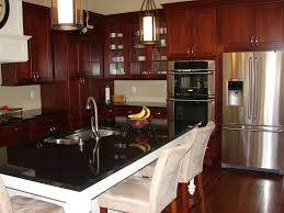 Kitchen With White Appliances by Cherry Cabinets With White Appliances Exitallergy Com
