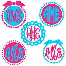 initial fonts for monogram circle monogram frames instant cut file for silhouette