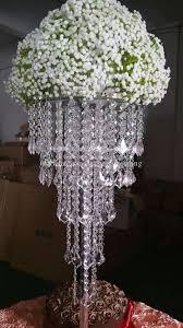 Vases For Centerpieces For Weddings Tall Acrylic Plastics Bead Wedding Pillar Flower Stand Vase