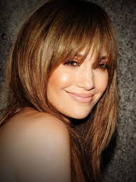 collections of hairstyle long layers with side swept bangs cute