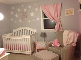 Pink And Grey Nursery Curtains by Pink And Grey Starry Nursery Project Nursery