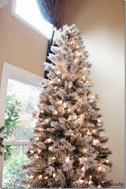 flocked tree merry christmas a white and silver christmas tree southern