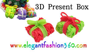 rainbow loom present gift box 3d charms how to loom bands