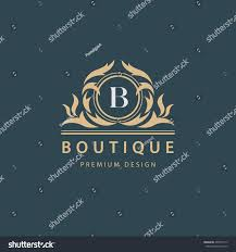 luxury logo template flourishes calligraphic elegant stock vector